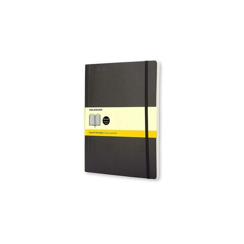 Moleskine Classic Notebook, Extra Large, Squared, Black, Softcover